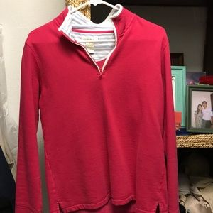 Long sleeve hundred percent cotton pullover